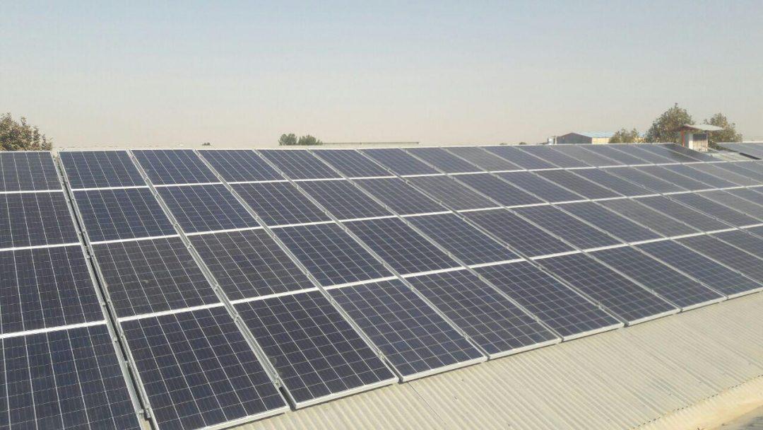 نیروگاه خورشیدی 40 کیلووات مشهد