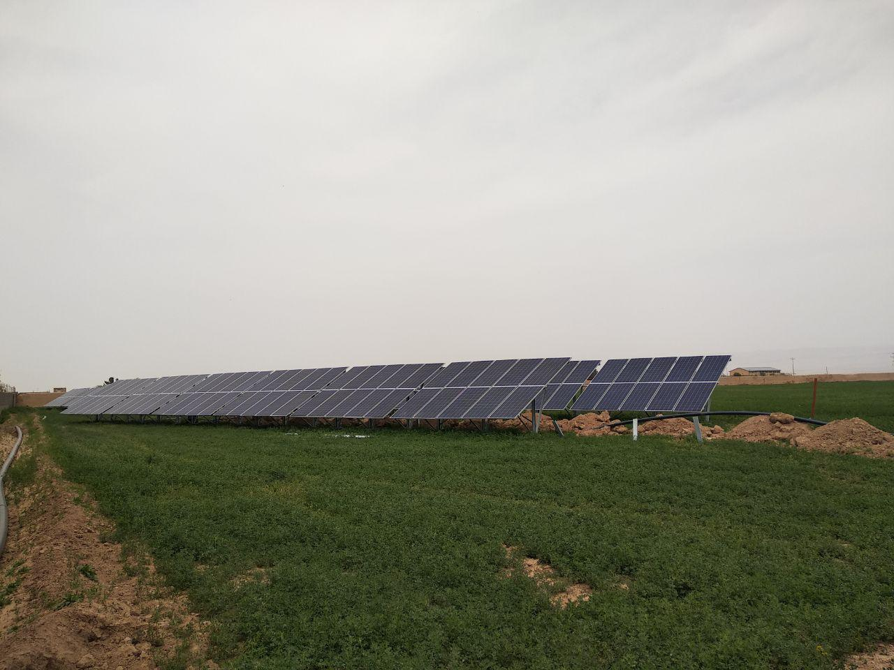نیروگاه خورشیدی 100 کیلووات چناران