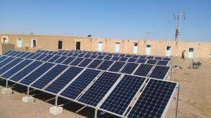 استراکچر نیروگاه خورشیدی یک ردیفه