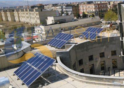 پروژه نیروگاه خورشیدی ادارات دولتی 30 کیلووات شرکت عمران گلبهار